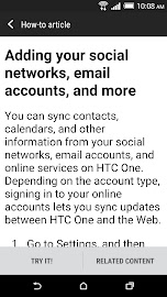 HTC Help Screenshot 5