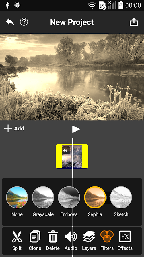 Video Editor AndroMedia: captura de pantalla