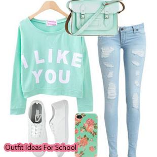 Outfit nápady pro školu - náhled