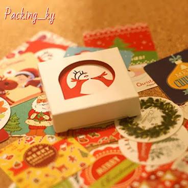💕聖誕文青款封口貼