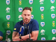 SA captain Faf du Plessis speaks at the departure press conference on Tuesday October 23, 2018 ahead of their ODI Tour of Australia.