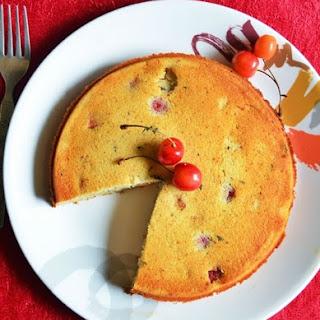 Eggless Cherry Almond Cake Recipe   How To Make Cherry Almond Cake
