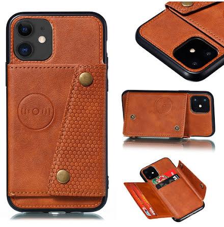 iPhone 12 - Praktiskt Stilsäkert Skal med Korthållare