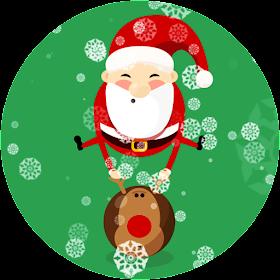 Bouncing  Santa Live Wallpaper