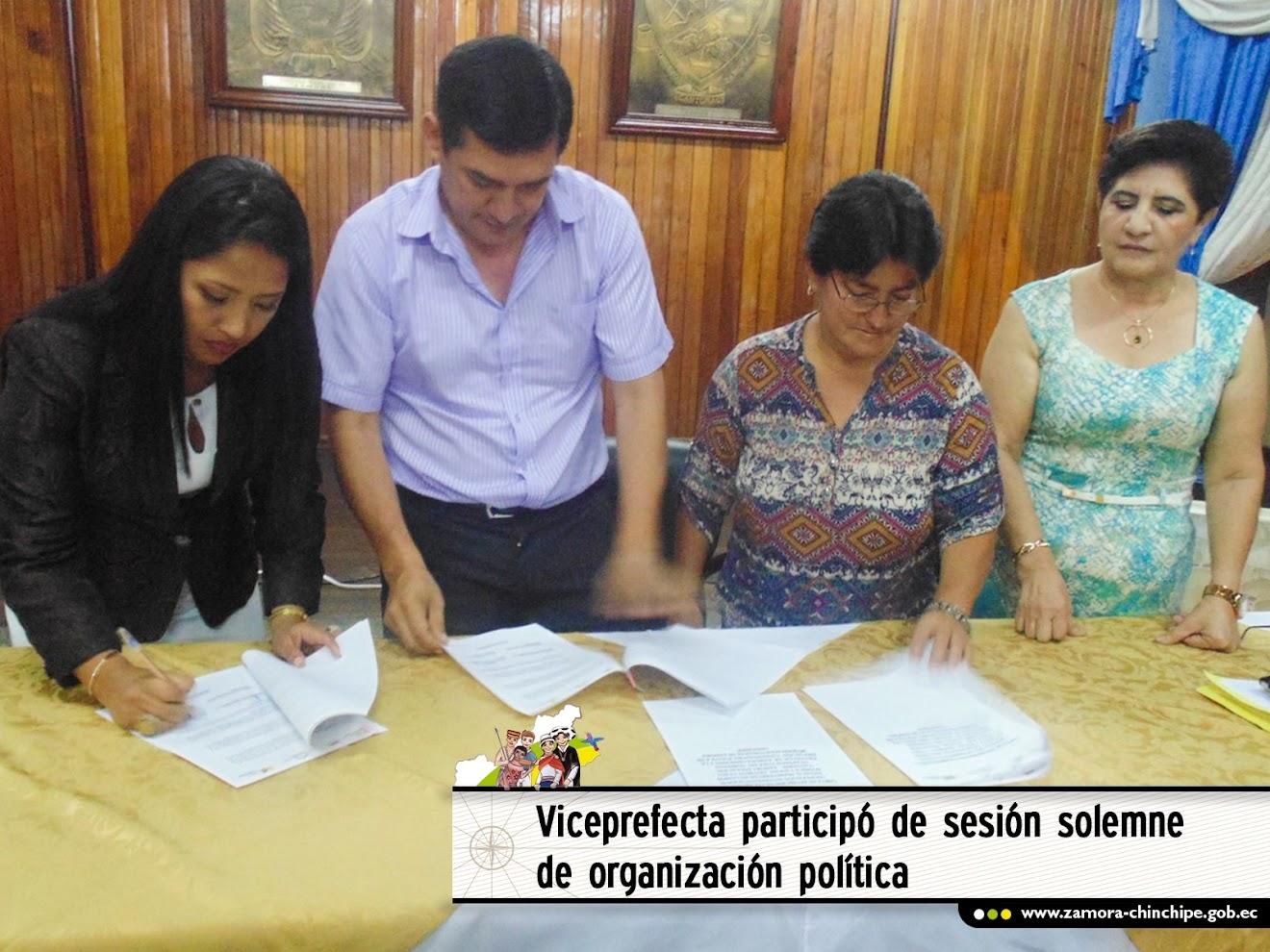 VICEPREFECTA PARTICIPÓ DE SESIÓN SOLEMNE DE ORGANIZACIÓN POLÍTICA