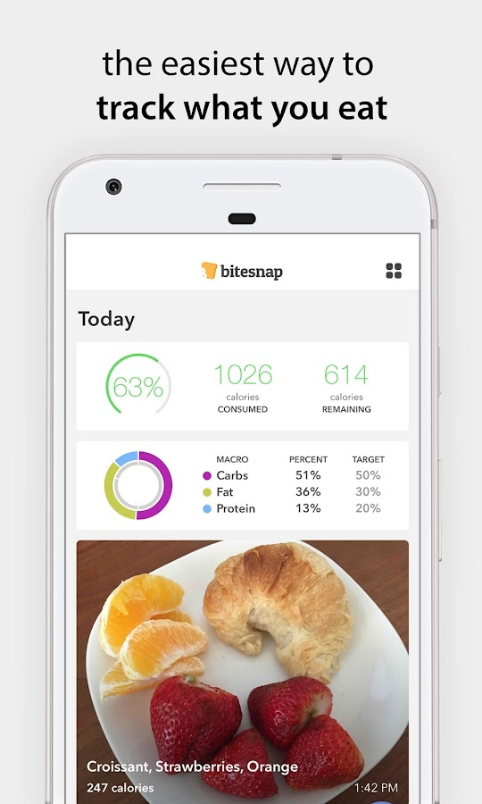Bitesnap: Photo Food Tracker and Calorie Counter- screenshot