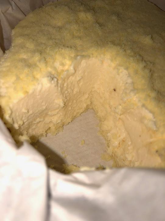 ルタオドゥーブルフロマージュケーキの断面