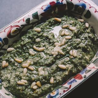 Basil Rosemary Pesto with Truffle + Clove.
