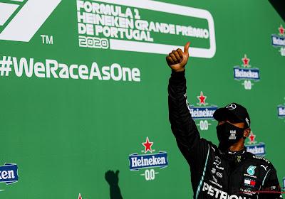 Hamilton boekt in Portugal 92ste GP-zege en breekt zo record van Schumacher