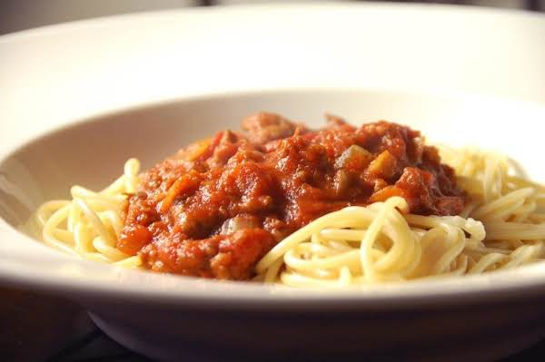 Thick Meat Sauce For Spaghetti Recipe