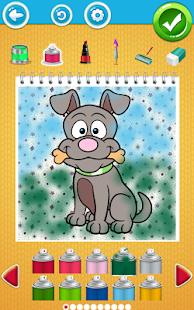 Pes Omalovánky - náhled