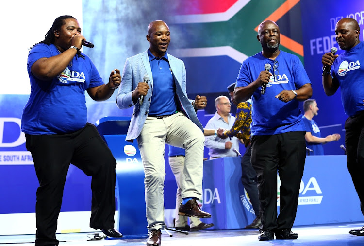 DA leader Mmusi Maimane at the party's federal congress held inTshwane at the weekend. Picture: MASI LOSI