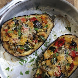 Stuffed Aubergines.