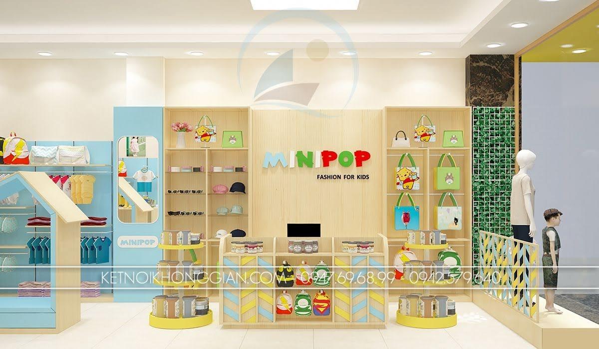 thiết kế shop thời trang trẻ em hiện đại