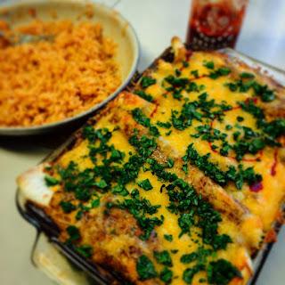 Mexi-Kenny Chicken Enchiladas.