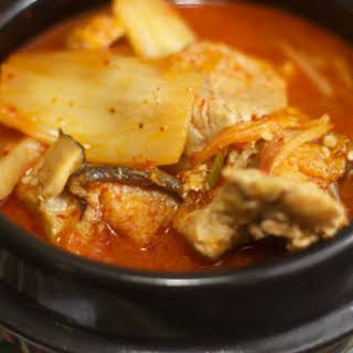 Asian-Inspired Pork and Kimchi Stew.