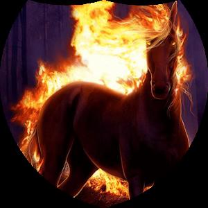 download Fiery horse Live Wallpaper apk