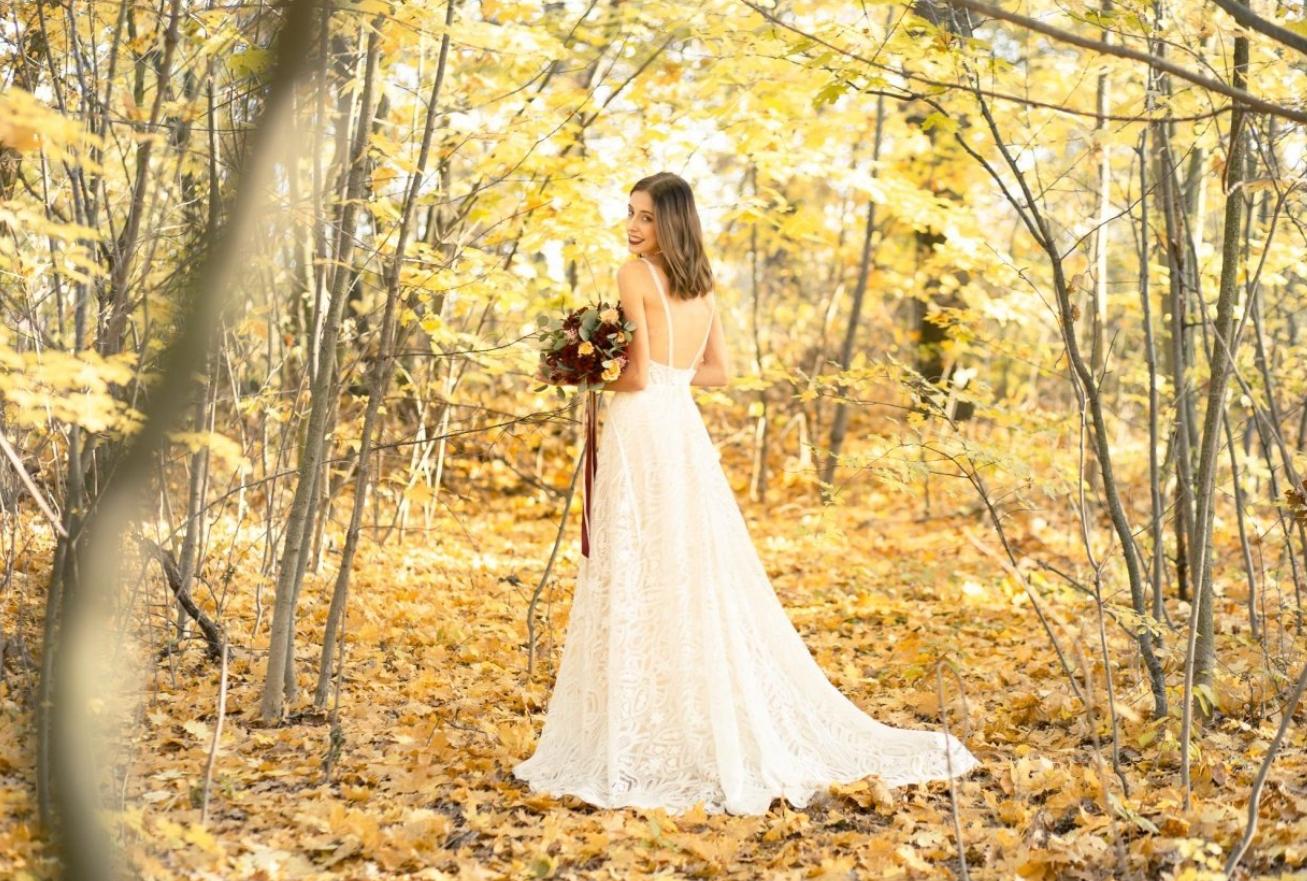 wedding in woods