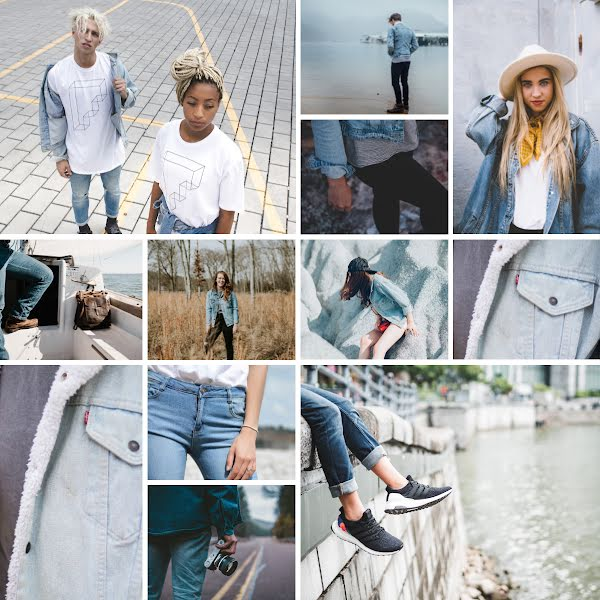 Denim Collage - Instagram Post Template