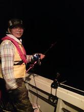 "Photo: 今回、一番サメのエジキになった""岡本さん""。 サメに魚奪われてました。"