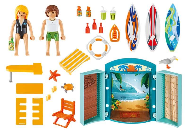 Contenido real de Playmobil® 5641 Tienda Surf