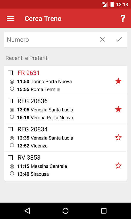 Train Timetable Italy PRO- screenshot