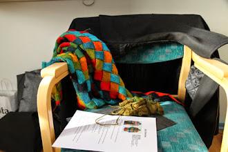 Photo: Hos Nina Sagulin kunde man gå workshop i Entrelac-stickning.