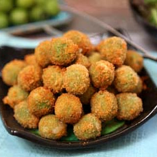 Cheese Stuffed Fried Green Olives.