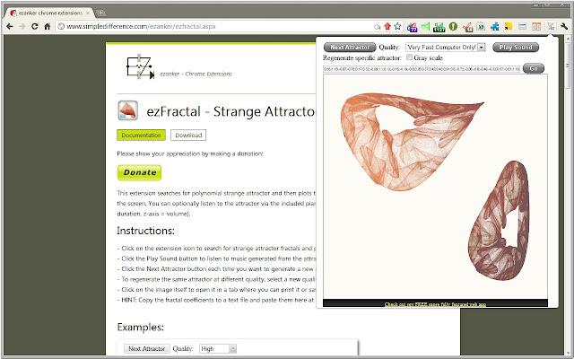 ezFractal - Strange Attractors