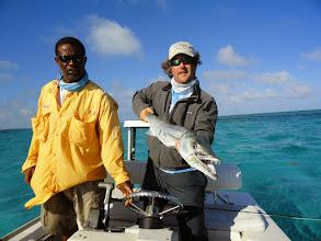 Photo: Brian Flechsig and an Andros Island Cuda- February 2013