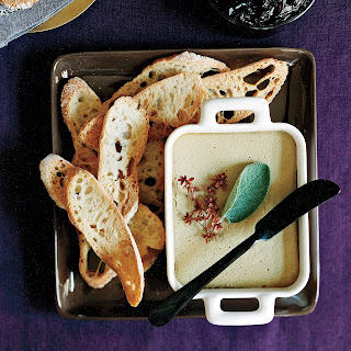 Chicken-Liver Mousse with Pickled Red Onion.