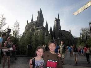 Photo: Hogwarts was very impressive and we also liked all the rides. I rode the Dragon Challenge coaster 4 times!