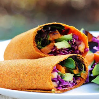 Raw Carrot Cumin Wraps.