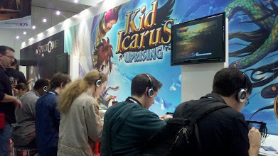 Photo: These guys are trying their best to protect their angel in a multiplayer match of Kid Icarus: Uprising.