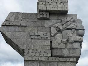 Photo: Homenatge als soldats polonesos.