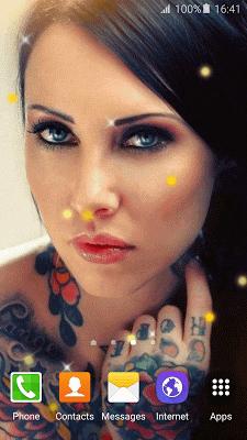 Tattoo Girl Live Wallpaper HD - screenshot