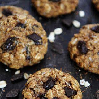 Whole Wheat Banana Coconut Oatmeal Chocolate Chunk Cookies.