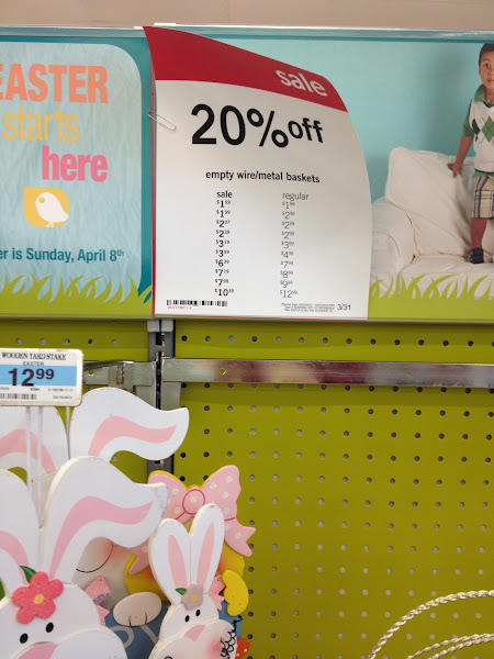 Photo: I just love a sale!  I headed out to KMart on a quest to make some Easter Baskets for my girls... ON a BUDGET!  30 dollars to be exact!