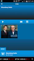 Screenshot of Bloomberg Radio+