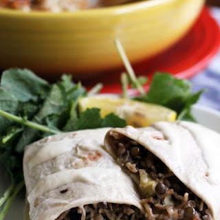 Middle Eastern Mujaddara Burritos