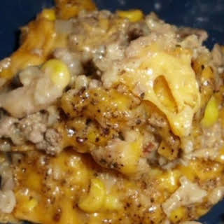 Hamburger Rice Cheese Casserole.