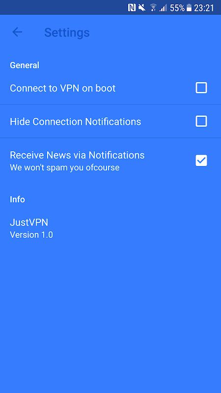 JustVPN - Free Unlimited VPN & Proxy screenshots