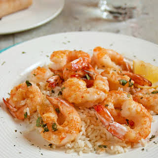 Baked Parmesan Shrimp with Garlic Butter.