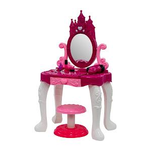 Set jucarie: Masa de machiaj cu oglinda, scaun si accesorii