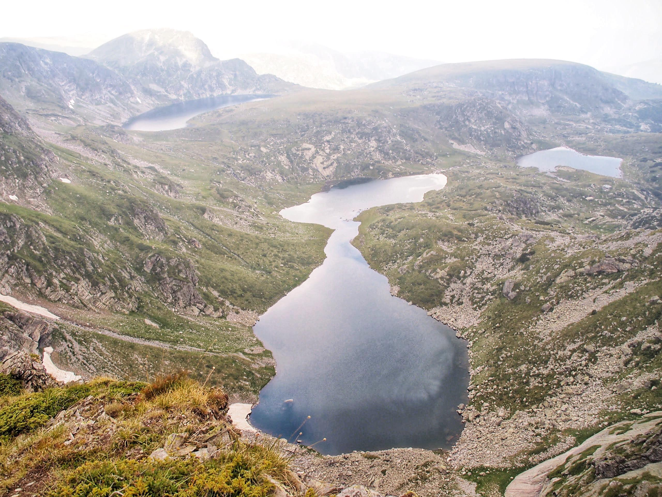 A teardrop-shaped lake in Rila