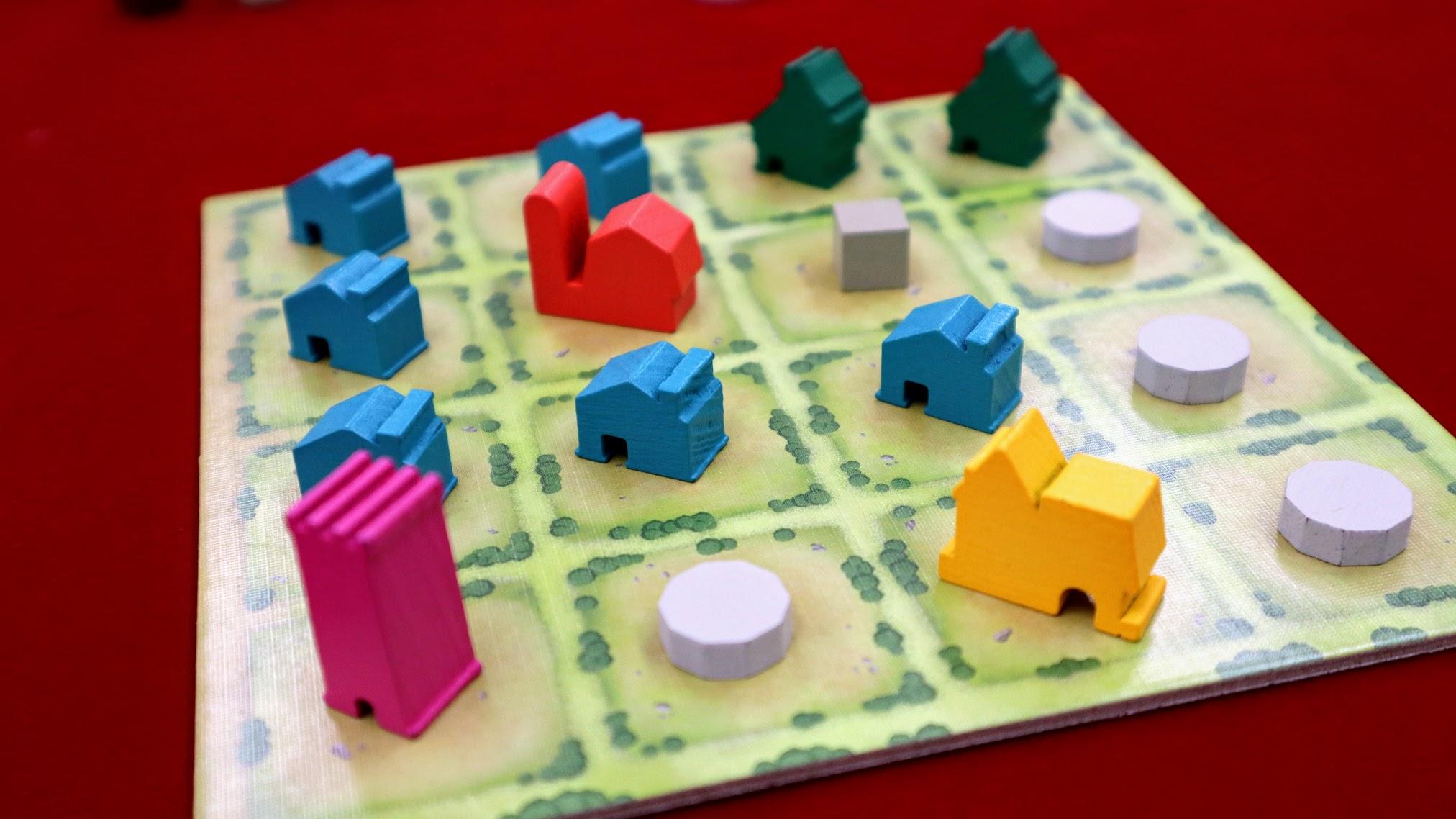ゲーム終了時の様子|【レビュー】タイニータウン (Tiny Towns)