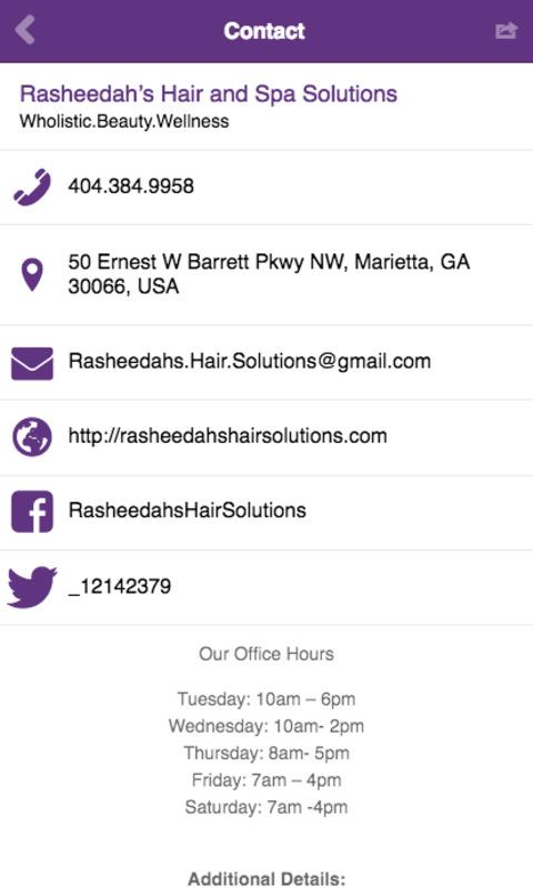 Rasheedah's Hair Solutions- screenshot
