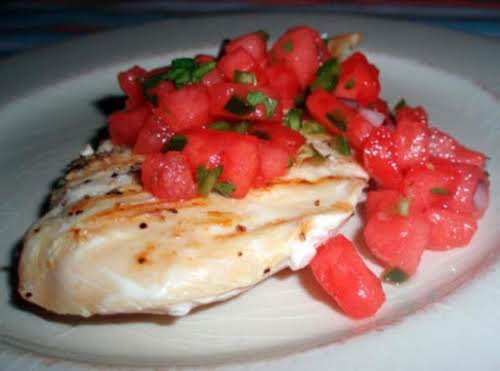 "Spicy Watermelon Salsa ""This recipe is awesome! I have taken it to..."