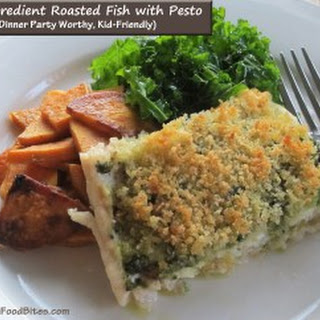 3 Ingredient Roasted Fish with Pesto