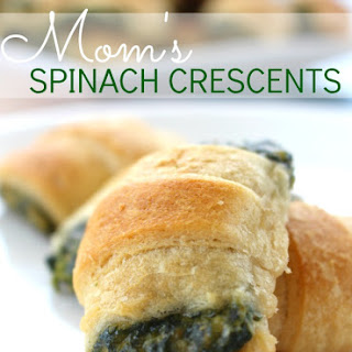 Best Spinach Appetizer Recipe | Mom's Spinach Crescents.